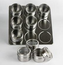 Magnetische gewürzregal edelstahl-magnetisches spice rack form gewürzregal edelstahl glas