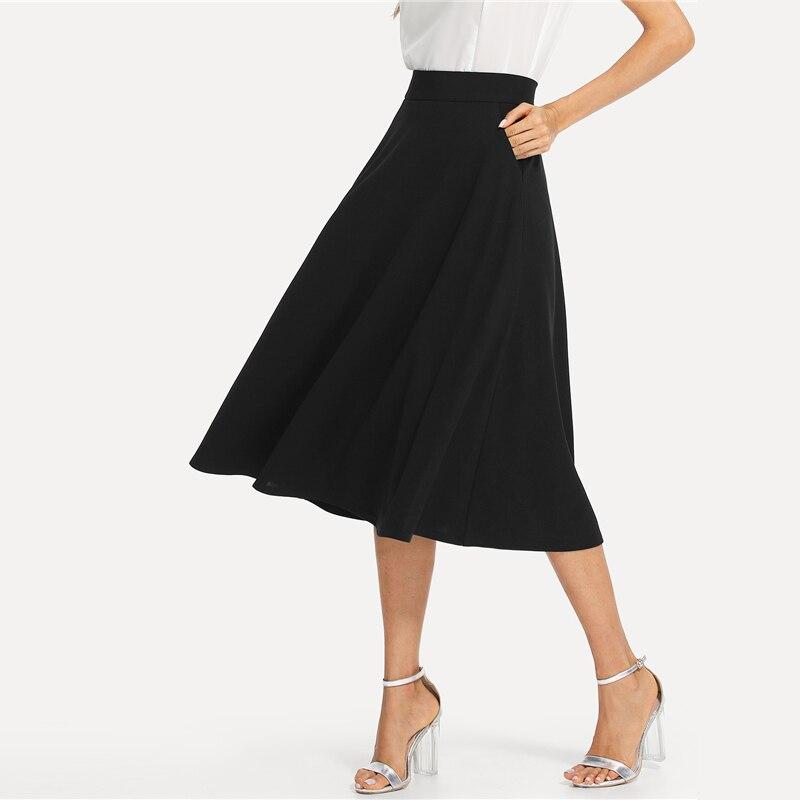 Falda de oficina negra moderna Paraíso de la Moda | PdM