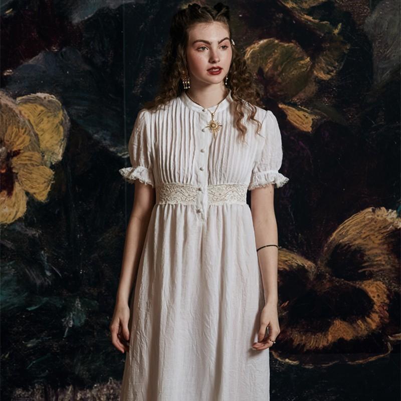 White Nightwear Dress Stop118