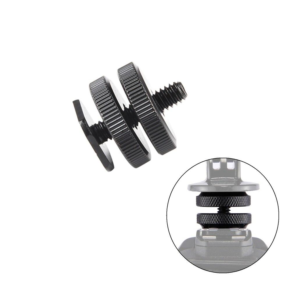 "Viltrox Pro 1/4"" Dual Nuts Tripod Mount Screw Black To Flash Hot Shoe Adapter For Camera Studio Accessory L116T L132T LED light"