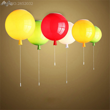 Modern Colors Balloon Acrylic Pendant Light Home Deco Bedroom hanglamp Children Room E27 Energy-saving industrial light fixtures