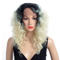 Aigemei химическое Синтетические волосы на кружеве Искусственные парики для Для женщин длинными вьющимися 20 дюймов 150% Плотность