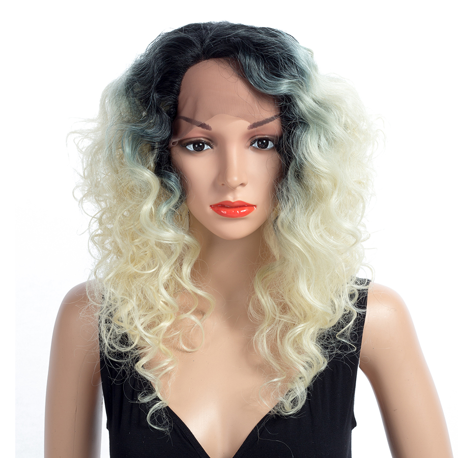 Gentle Aigemei Synthetic Lace Front Wigs For Women Long Curly 20 Inch 150% Density Relieving Heat And Sunstroke Hair Extensions & Wigs Synthetic Lace Wigs
