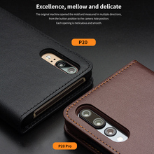 QIALINO Genuine Leather Wallet Flip Case for Huawei P20 P20Pro