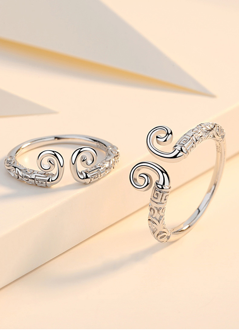 4929af98d7dc0 Westward Journey Romantic Alternative 999 Sterling Silver Couple Promise  Rings For Men Women Lovers Tail Rings Girlfriend Gifts
