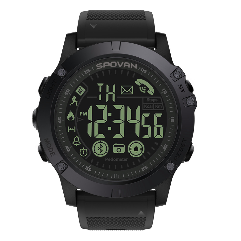 Flagship Robusto Display LCD Smartwatch 33 mesi di Tempo di Standby 24 h Monitoraggio per Tutte Le Stagioni Bluetooth IP67 Impermeabile Wristwat