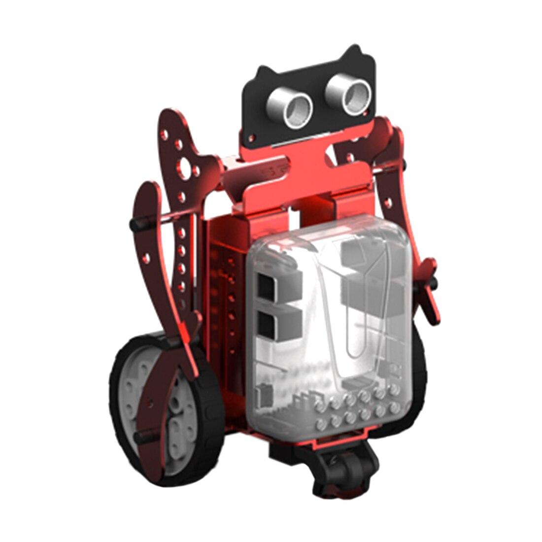 3-en-1 bricolage Neo programmation Scratch Intelligent évitement d'obstacles voiture Robot Kit pour enfants jouet modèle Mini Robot Intelligent-vert rouge