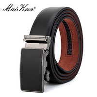 Cowhide Automatic Buckle Belts For Men Belts Vintage Style High Quality Genuine Leather Male Strap For