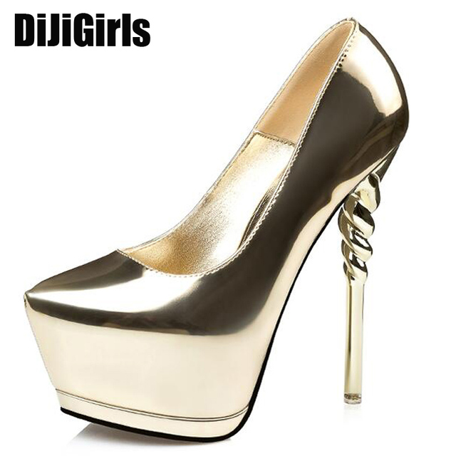 20b2ce33716 party shoes gold pumps wedding shoes women pump extreme high heels black  platform shoes silver heels women shoes heels X321