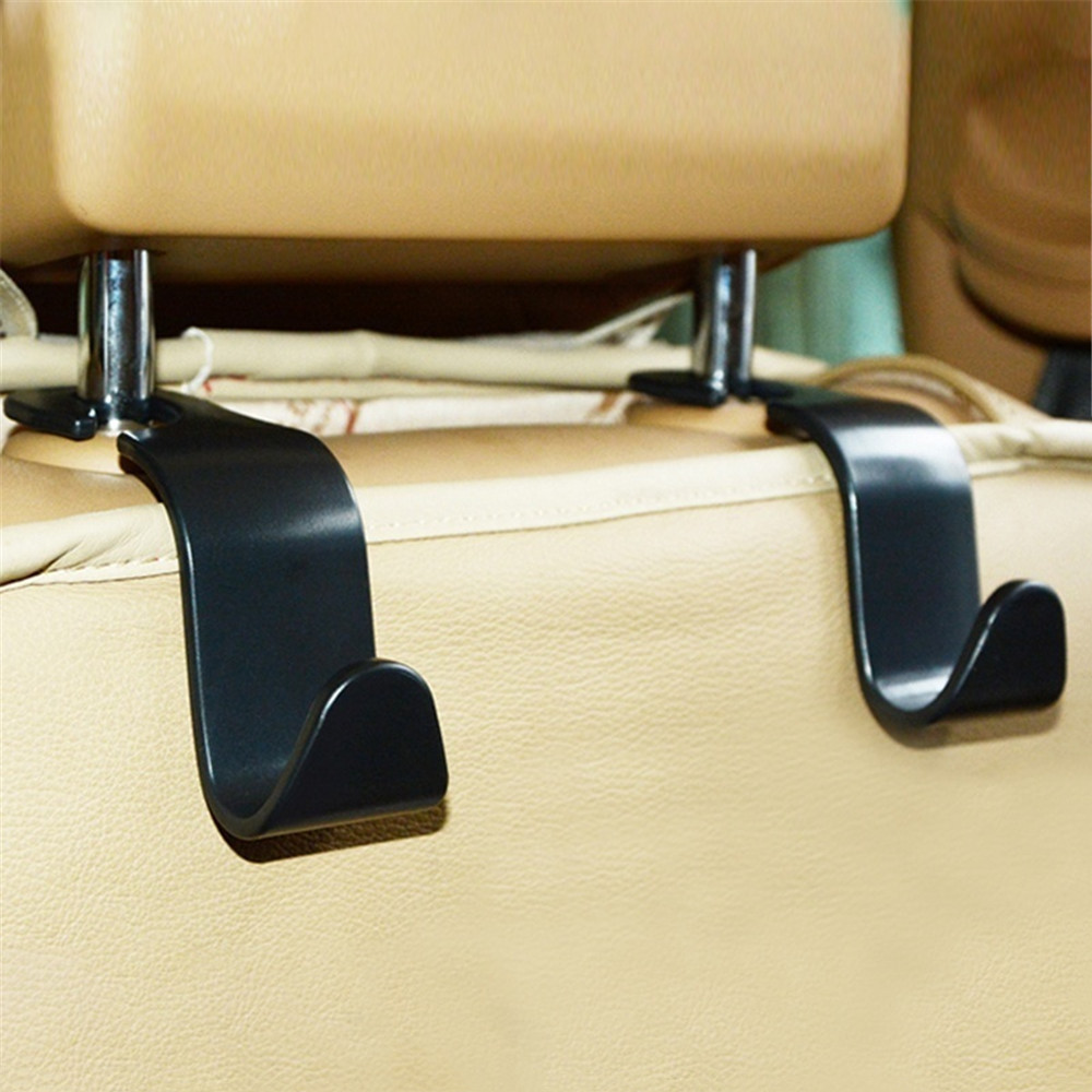 2pc Car Seat Back Hooks Hanger Organizer Universal Headrest Mount Storage Hook House Storage Simple Styling Car Coat Hanger
