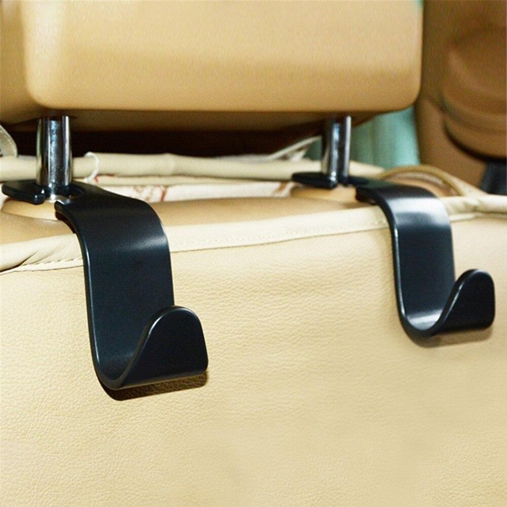 2pc siège de voiture arrière crochets cintre organisateur universel appui-tête montage stockage crochet maison stockage Simple style voiture manteau cintre