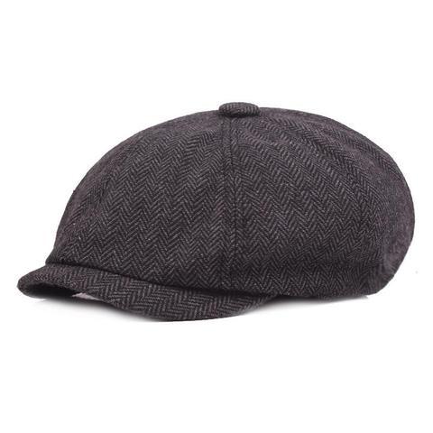 2018 New Tweed Gatsby Newsboy Cap Men Autumn Winter Hat Golf Driving Flat Cabbie Flat Berets Hat Peaky Blinders Hat Bone Unisex Lahore