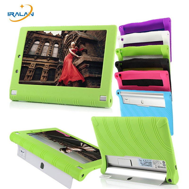Galleria fotografica Fashion hot Ultra Slim case For Lenovo Yoga Tablet 2 1050 1050F 10.1 inch sweety silica gel Soft back skin shell Cover+stylus
