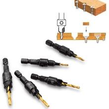 Vastar 5pcs Countersink Drill Woodworking Drill Bit Set Drilling Pilot Holes For Screw Sizes #5 #6 #8 #10 #12