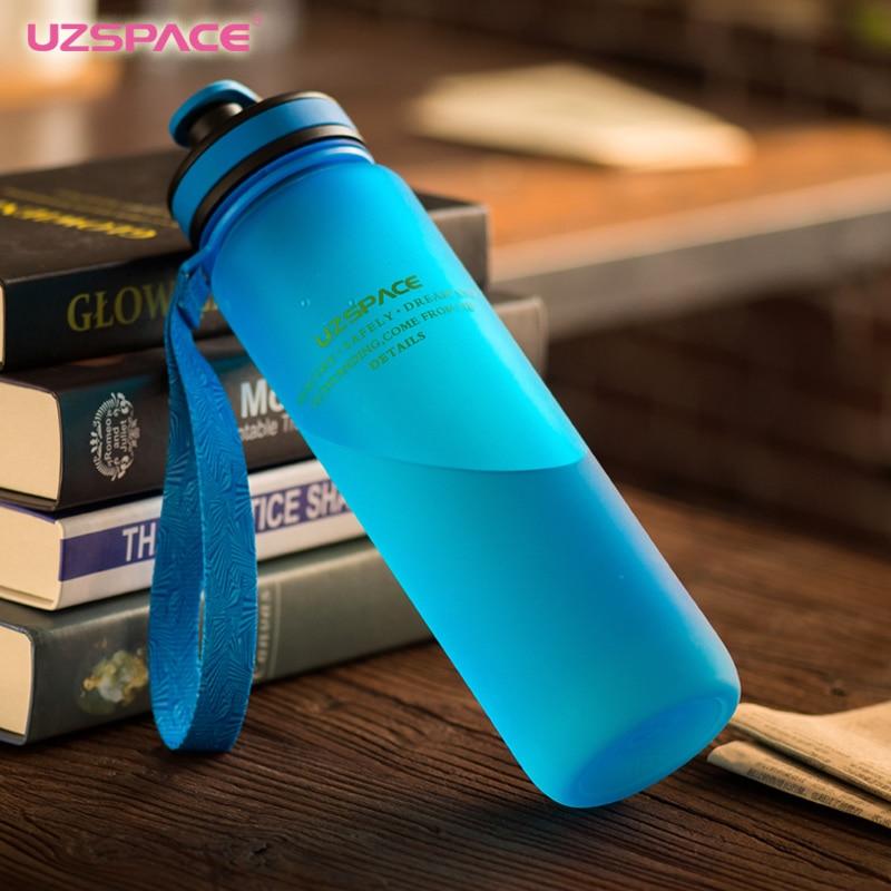 UZSPACE Wasser Flaschen 650 ml 1000 ml Kapazität Trinken Wasser Tragbare Kunststoff Protein Shaker Mein Sport Getränk Flasche Tritan bpa freies