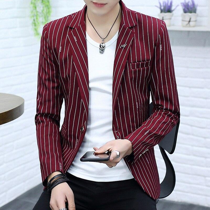COO  New 2019 Long-sleeved Striped Blazer Man Portable One Grain Of Four Seasons Blazer Leisure Blazer