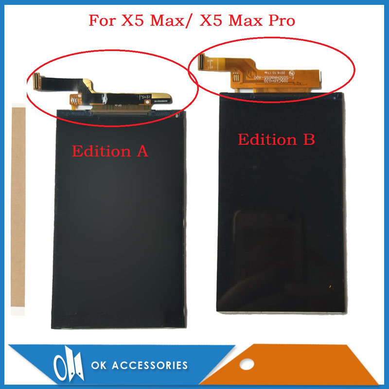 100% Test 5.0 Inch For Doogee X5 Max/ X5 Max Pro LCD Screen Display Replacement Part With Adhesive Tape