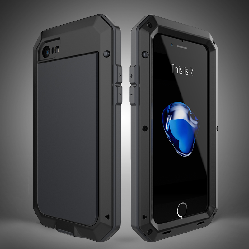 buy popular a046b dea73 R JUST Luxury Doom Armor Duty Shock life waterproof Metal Aluminum Phone  Cases For iphone 8 X 7 SE 4 4S 5 5C 5S 6 6S Plus Glass-in Fitted Cases from  ...