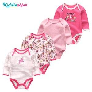 Image 4 - 4PCS Clothing Sets 2019 Unisex Baby Girl Clothes Roupa de bebe Cotton Baby Boy Clothes Full Sleeve Unicorn Newborn Bodysuit