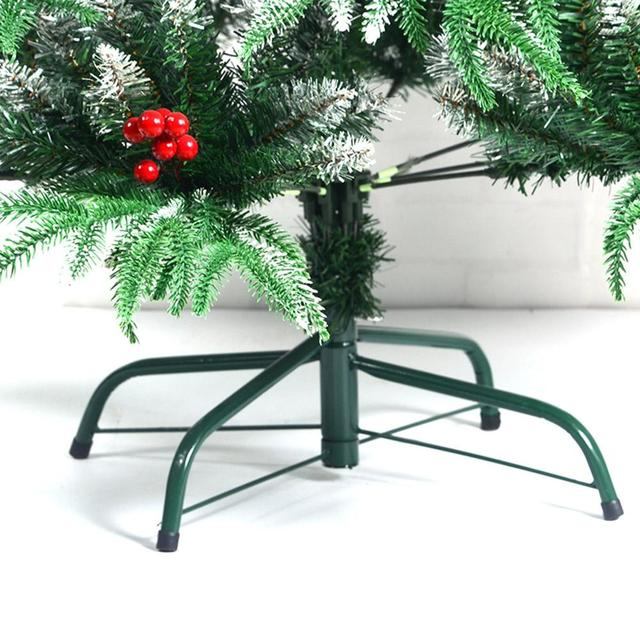 Christmas Tree Stand Green Metal Storage Rack Holder Base Cast Iron 4 Legs