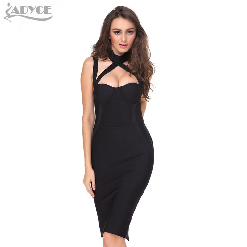 2017 New Women Black Bodycon Summer Party Dress Hollow Out