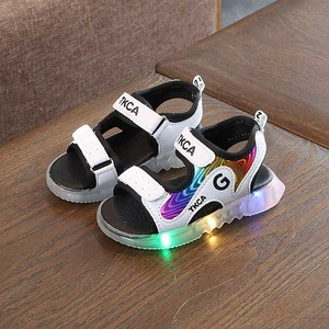 Led luminous  boys girls Light Kids Sandals Fashion Illuminate Shoes Non-slip Children Shoes Soft Sandals