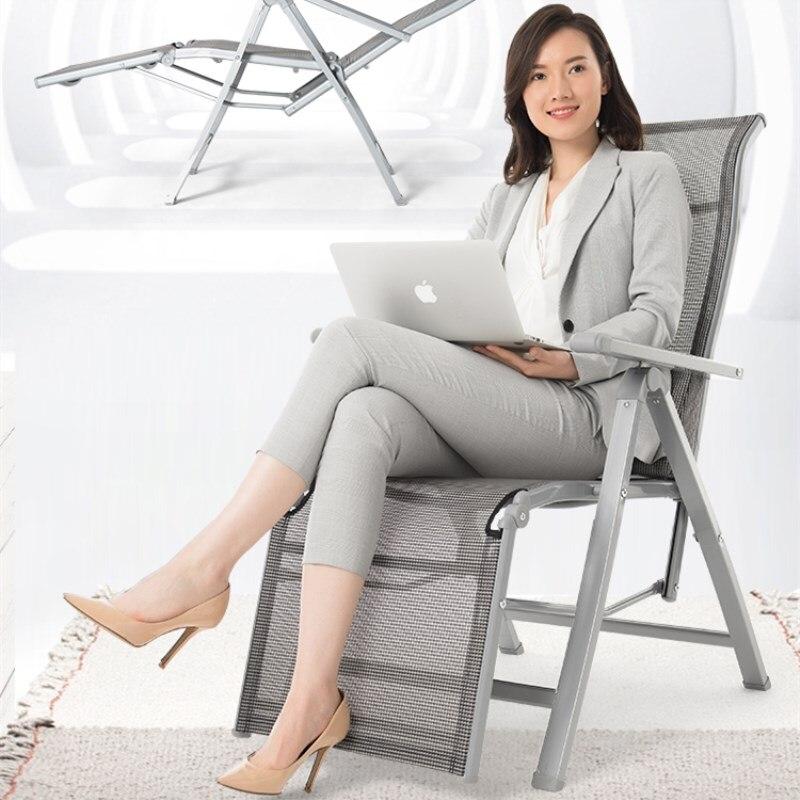 Tilt Angle Adjustable Folding Armchair Heavy Duty Mesh