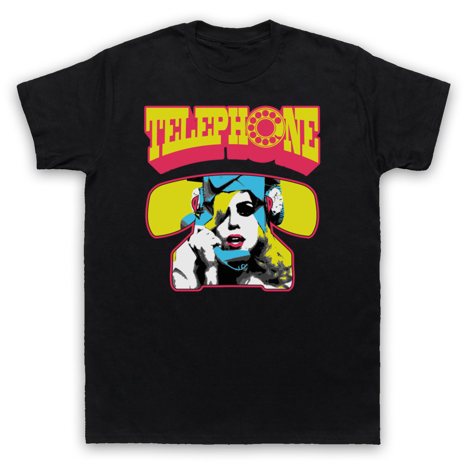 Womens T-Shirt LADY GAGA TELEPHONE MONSTER UNOFFICIAL POP STAR ICON T-SHIRT SIZES