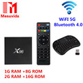 Newest X96 TV Box Amlogic S905X Quad Core TV Box WiFi HD 2.0 Smart TV Media Player Miracast X96 Set-top Box 1/8G/2G/16GB Wifi 5G