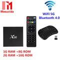 Newest X96 TV Box Amlogic S905X Quad Core TV Box WiFi HD 2.0 Smart TV Media Player Miracast X96 Set-top Box 1/8G/2G/16GB Wifi 5G