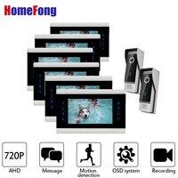 Homefong 720 P видео телефон двери 6 мониторы 7 дюймов Indoor мониторы 2 Открытый дверной панели Home безопасности Системы сигнализации запись
