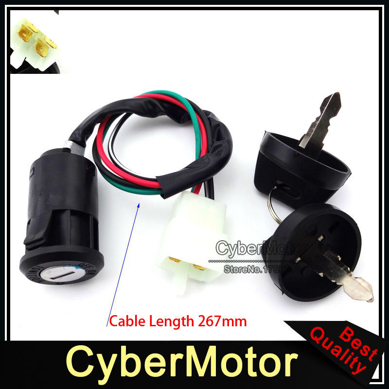 ATV Ignition Key Switch For Eton Viper Sierra Impuls Rascal 50cc 70cc 90cc Quad