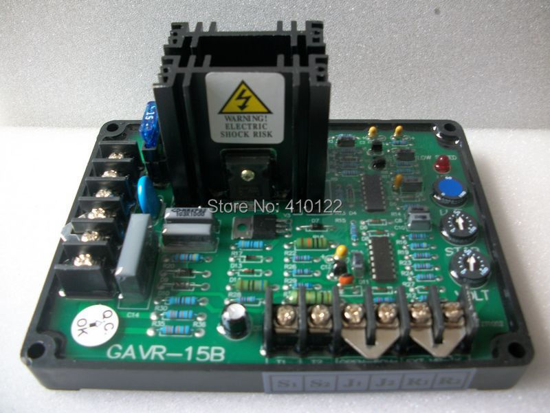 Universal AVR 15A For Brushless Generator Voltage Stabilizer Regulator Power Tool Parts