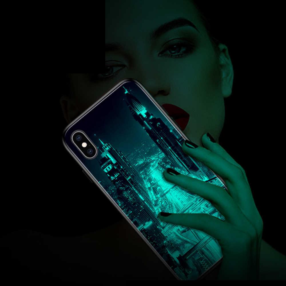 Parlak cam durumda Xiaomi RedMi 6 Pro için not 8 7 5 Pro Mi 6 8 Lite A1 temperli cam kılıfı iPhone 11 Pro Max XR XS kapağı