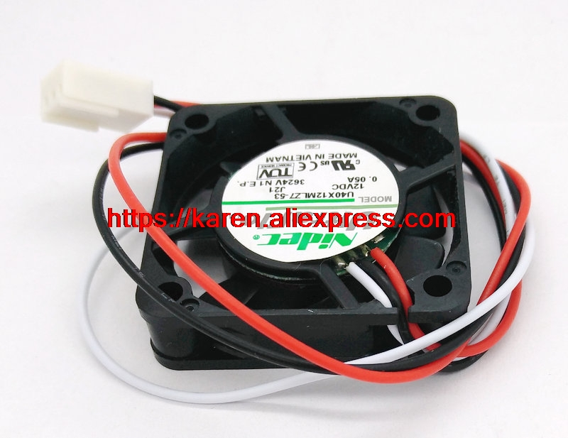 Купить с кэшбэком New Original for Nidec U40X12MLZ7-53 40*40*10MM 12V 0.05A 3 Wires cooling fan