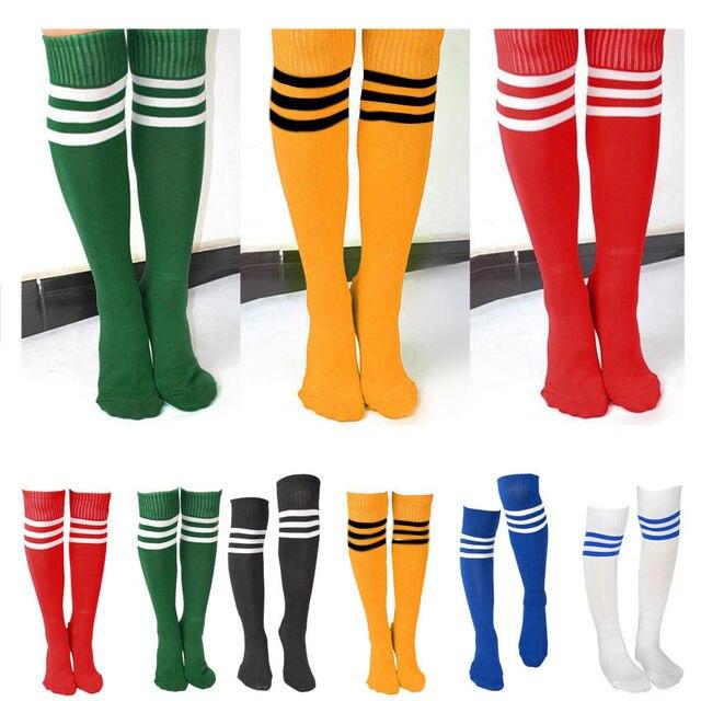 f7f14887f Men Women Girl Striped Over The Knee Thigh High Stockings Long Socks ...