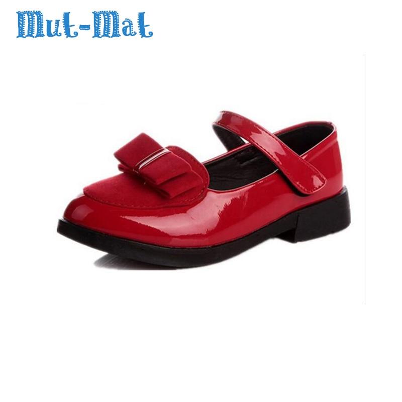 2019 model musim gugur gadis sepatu putri busur sepatu sepatu dansa perawan besar padat