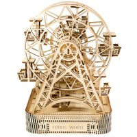 Ferris wheel Building Blocks Decoration Manual 3D Wood mechanical gear drive Assembled model assembled toys Creative gift 30L028