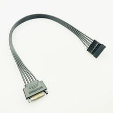 30 CM czarny pojedynczy rękaw SATA 15Pin męski na żeński przedłużacz kabla HDD SSD moc kabel zasilający SATA kabel zasilający dla PC nowy