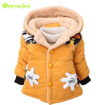 Baby Girls Jackets 2018 jesień zimowe Kurtki dla chłopców kurtki dzieci ciepłe z kapturem kurtki płaszcze dla chłopców ubrania dzieci kurtka tanie i dobre opinie Odzież wierzchnia i Płaszcze Z KEAIYOUHUO Pełne Wagi ciężkiej Czesankowa Hooded Unisex Pasuje do rozmiaru Weź swój normalny rozmiar