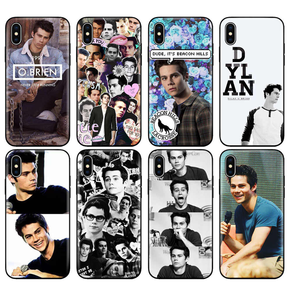 Black tpu case for iphone 5 5s se 6 6s 7 8 plus x 10 case silicone cover for iphone XR XS MAX case Teen Wolf Dylan Obrien