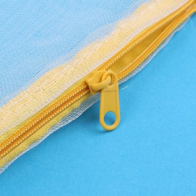 High Quality 5pcs Nylon Mesh Aquarium Pond Filter Media Bag Zipper White Color New Free Shipping