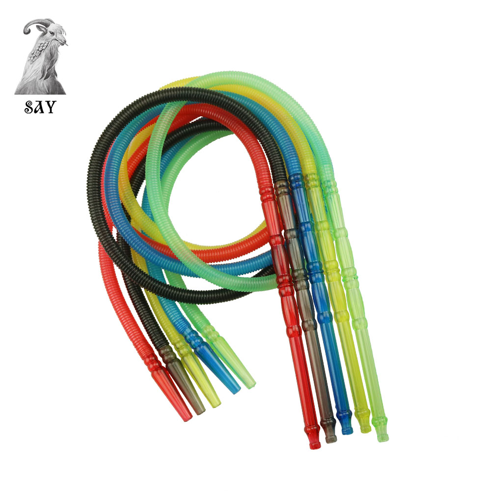 SY 1pc 150cm Pageant Colorful Shisha Pipe Long Mouth Pipes Hookah Hose Accessories Plastic Pipe