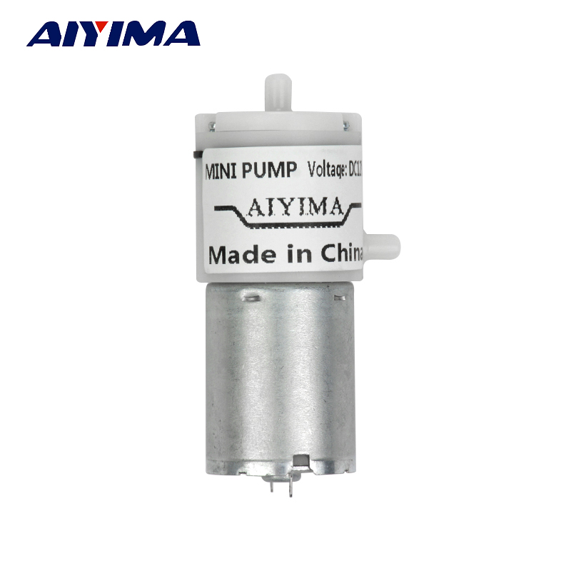 AIYIMA DC 12V Micro Vacuum Pump Electric Pumps Mini Air Pump Pumping Booster For Medical Treatment Instrument