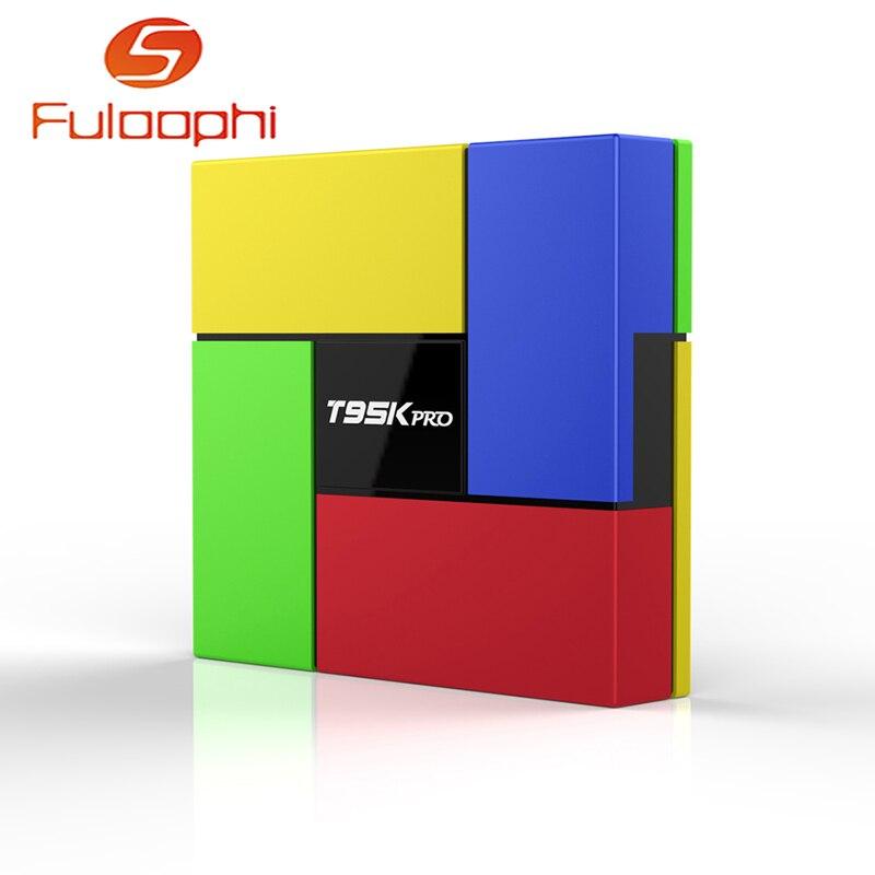 T95K PRO Android 6.0 TV box Amlogic S912 Octa Core 2GB DDR3 16GB EMMC KODI IPTV Box Dual Band WIFI Bluetooth 4.0 4K Media Player