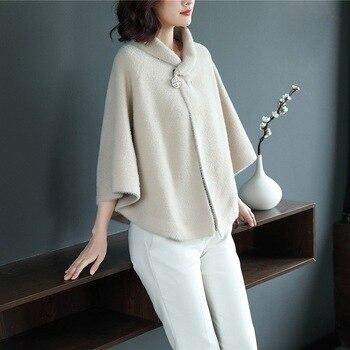 38fa4da15 NOVAS mulheres malha mink cashmere cardigan feminino camisola da malha das senhoras  jaqueta casaco casaco outwear 1111-135