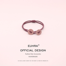 EUHRA 6 Colors Elastic Hair Bands Solid Round Shape For Women Girls Button Band Kid Children Accessories Scrunchie