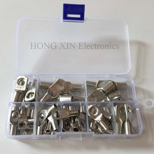 цены 60pcs/set Tinned Copper Cable lugs Battery Terminals set Wire terminals connector SC10-6 SC16-8 SC25-8 Open Lugs Terminals