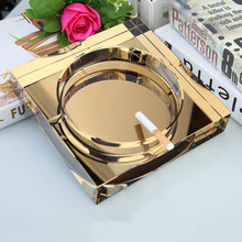 XING KILO Square practical crystal ashtray high-end fashion creative personality custom KTV European living room office gifts