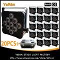 (20 шт.) четырехцветный 4в1 беспроводной Баттери мощность Par свет Par Can с 9*10 Вт Светодиодная лампа с Flightcase
